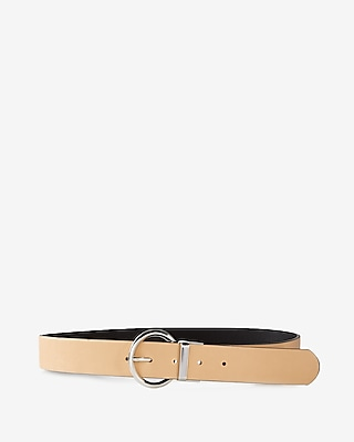 Express Womens Round Buckle Reversible Belt
