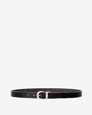 Express Womens Mini Round Buckle Reversible Belt
