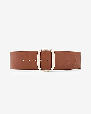 Express Womens Wide Oval Buckle Belt