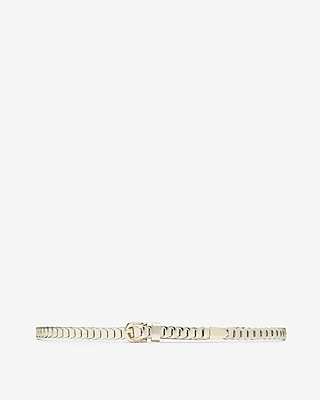 Express Womens Skinny Metallic Link Belt