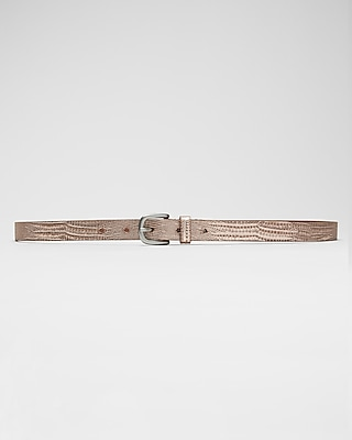 Express Womens Metallic  Genuine Leather Belt