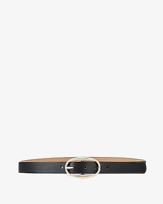 Express Womens Who What Wear Pick Oval Buckle Belt