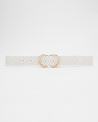 Express Womens Double O-Ring Studded Belt