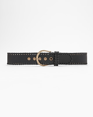 Express Womens Whipstitch Edge Belt
