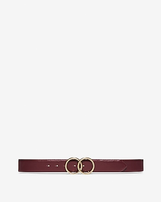 Express Womens Textured Double O-Ring Buckle Belt