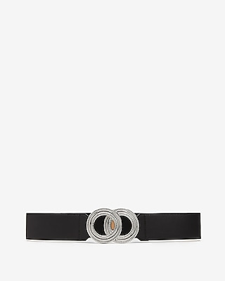 Express Womens Textured Double O-Ring Knot Stretch Belt