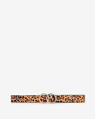 Express Womens Leopard Double O Ring Belt