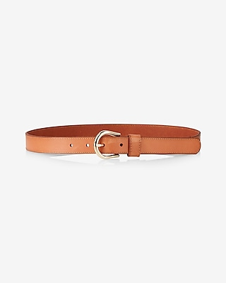 Express Womens Genuine Leather Buckle Belt