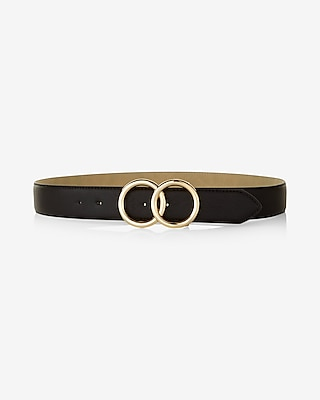 Express Womens Man Repeller Pick Double O-Ring Belt
