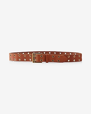 Express Womens Genuine Leather Double Prong Belt