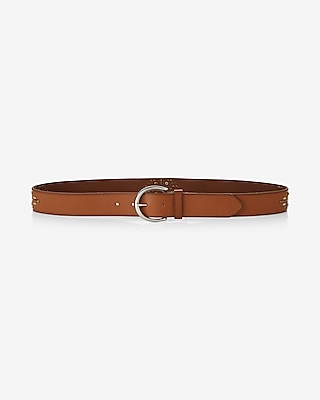 Express Womens Embellished Genuine Leather Belt