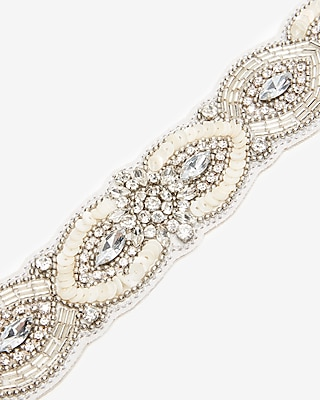 Express Womens Embellished Ribbon Belt