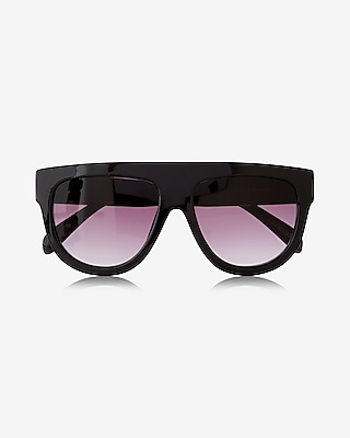 Express Womens Ombre Shield Sunglasses
