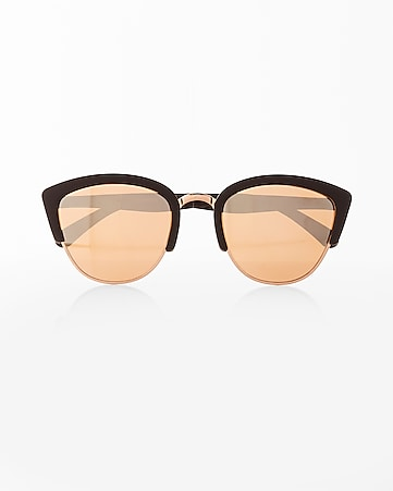 two tone browline sunglasses