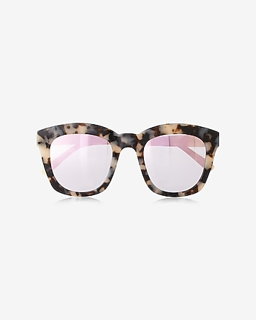 tortoiseshell and pink cat eye sunglasses