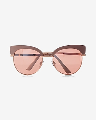 Express Womens Felicity Cat Eye Sunglasses