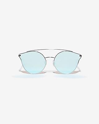 Express Womens Brow Bar Cat Eye Sunglasses