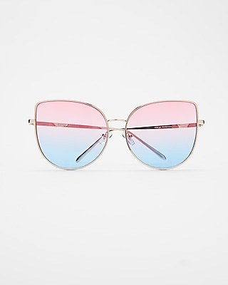 Express Womens Ombre Cat Eye Sunglasses Multi