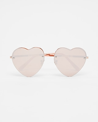 Express Womens Heart Shaped Sunglasses
