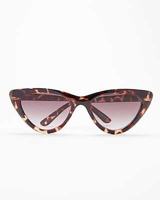 Express Womens Tortoiseshell Extreme Cat Eye Sunglasses