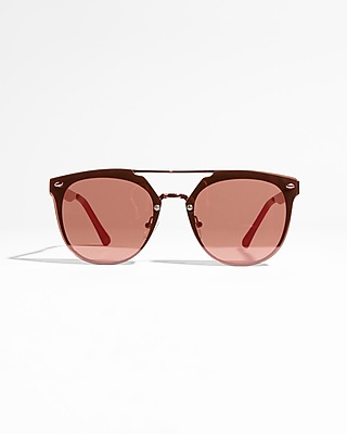Express Womens Metal Brow Bar Sunglasses