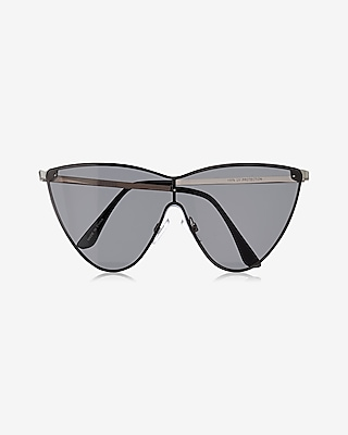 Express Womens Cat Eye Shield Sunglasses