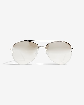 Express Womens Clear Aviator Sunglasses