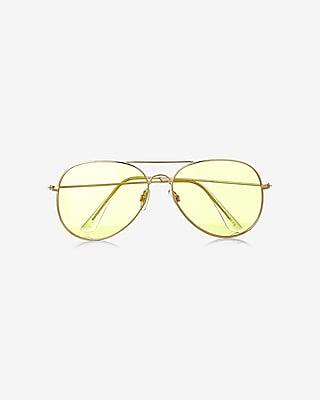 Express Womens  Aviator Sunglasses