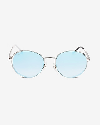 Express Womens Priv? Revaux Blue Riviera Sunglasses