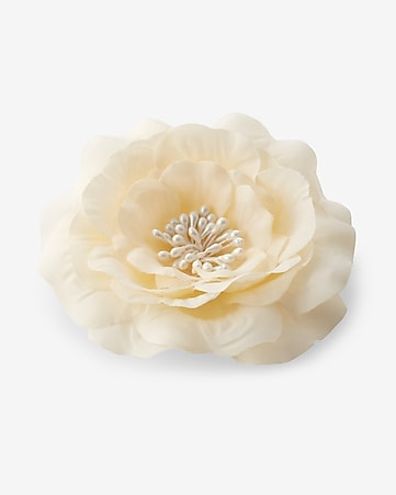 white flower hair clip and pin