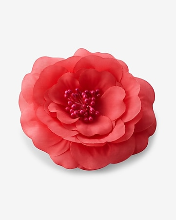 bright pink flower hair clip and pin