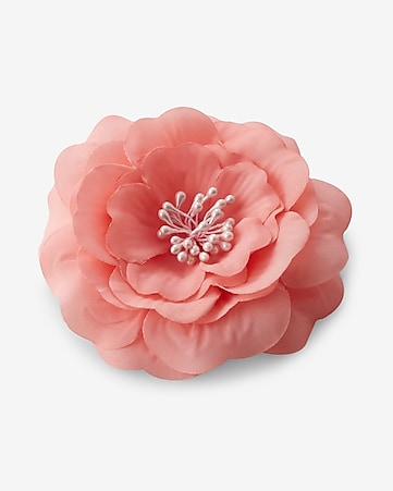 light pink flower hair clip and pin