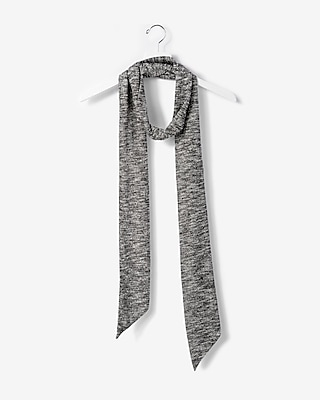 Express Womens Ribbed Skinny Scarf