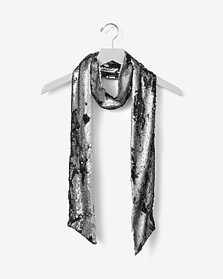 Express Womens Skinny Matte Sequin Scarf