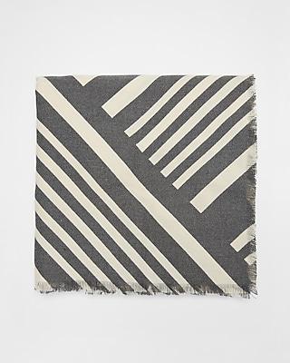 Express Womens Diagonal Stripe Square Scarf