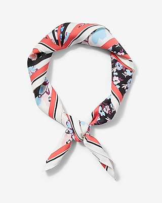 Express Womens Floral Print Square Neckerchief Print ONESIZE