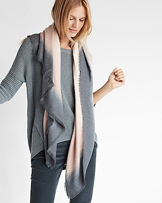 Express Womens Ombré Square Oblong Scarf