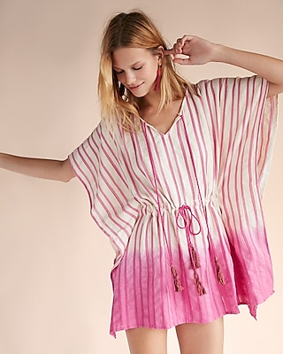 Express Womens Ombre Stripe Poncho