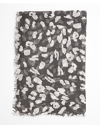Express Womens Leopard Oblong Scarf