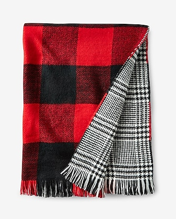 buffalo check reversible scarf