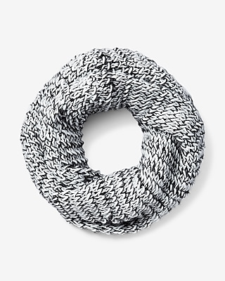 Express Womens Marled Chunky Knit Snood