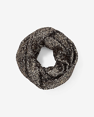 Express Womens Metallic Popcorn Loop Scarf