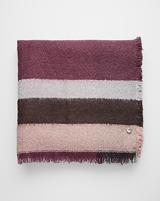 Express Womens Color Block Stripe Blanket Scarf
