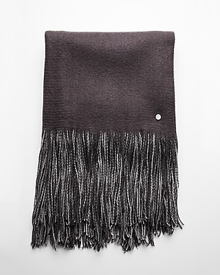 Express Womens Reversible Metallic Fringe Scarf
