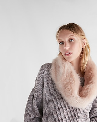 Express Womens Faux Fur Snood