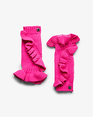 Pink. This Plush Arm Warmer Keeps You Feeling Toasty And Looking Chic Thanks To Soft, Thick Fabric And Trendy Ruffles.. . One Size