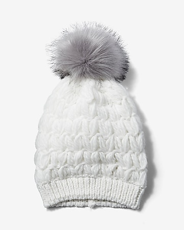 cushion knit pom beanie