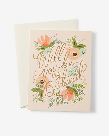 rifle paper co. will you be my bridesmaid card
