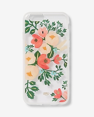 Express Womens Express Womens Rifle Paper Co. Clear Peach Blossom Iphone 6/6S Case Multi