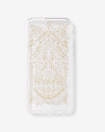 rifle paper co. clear gold floral lace iphone 6/6S case